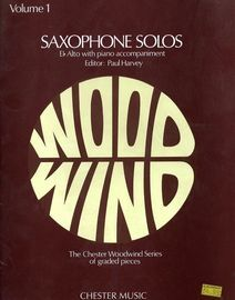 Saxophone Solos  - E flat Alto with Piano accompaniment - Volume 1 - The Chester Woodwind Series of graded pieces