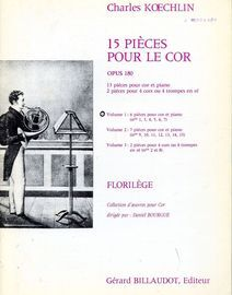 6 Pieces for Horn and Piano - Volume 1 of '15 Pieces pour le Cor'