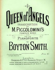 Queen of Angels - Transcription of M Piccolomini's famous Song - For the Pianoforte