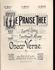 We Praise Thee - Sacred song - Song in the key of F major for high voice