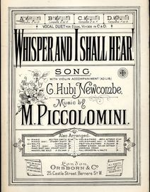 Whisper and I Shall Hear - Song - In the key of A flat major for low voice
