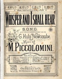 Whisper and I Shall Hear - Song - In the key of B flat major