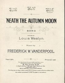 Neath the Autumn Moon - Song - In the key of E flat major for high voice