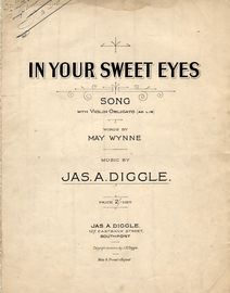 In Your Sweet Eyes - Song in key of F major with Violin Obligato (ad lib)
