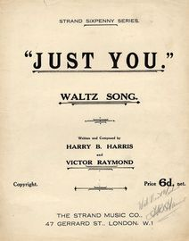 Just You - Waltz-Song in key of G major
