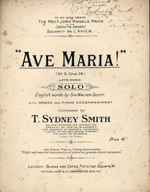 Ave Maria - Op. 58, No. 5 - Latin Words