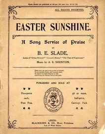Easter Sunshine - A Song Service of Praise
