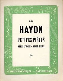 Petites Pieces - Short Pieces for Piano - Edition Heuwekemeijer No. 306