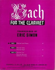 Bach For The Clarinet - Part 1 Clarinet and Piano