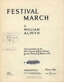 Festival March - For Piano - Commissioned by the Arts Council of Great Britain for the Festival of Britain 1951