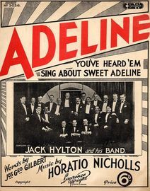 Adeline - You've Heard ' Em Sing About Sweet Adeline - Lawrence Wright Edition No. 2036