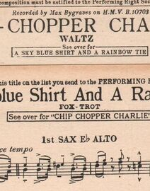 DANCE BAND with Vocals:- (a) Chip-Chopper Charlie - Waltz - (b) A Sky-blue Shirt and a Rainbow Tie - Fox-Trot
