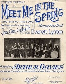 Meet me in the Spring (That Springtime Song) - Song Fox Trot - Featuring Arthur Davies Orchestra