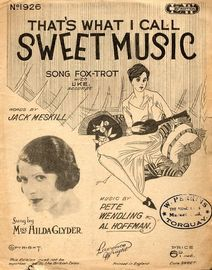 Sweet Music - Song featuring Miss Hilda Glyder