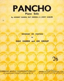Pancho - Piano Solo - Recorded on Fontana by Max Harris and His Group