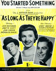 You Started Something - From the film 'As Long as They're Happy' - Starring Jack Buchanan, Janette Scott, Jean Carson and Brenda de Banzie