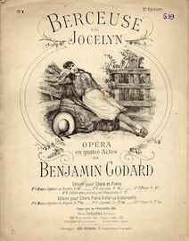 Berceuse de Jocelyn - Opera en Quatre Actes - For Mezzo Soprano / Baritone in French with Piano Accompaniment
