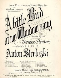 A Little Bird at my Window Sang - London Music Publishing Stores Edition No. 292