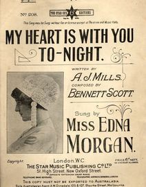 My Heart is With You tonight - Song in the key of A flat major for Low voice - Featuring Miss Edna Morgan
