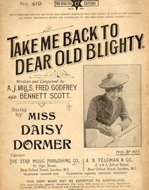 Take me back to dear old Blighty - Song featuring Daisy Dormer