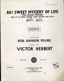 Ah Sweet Mystery of Life - (The Dream Melody)  In the Key of C major