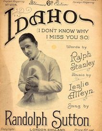 Copy of Idaho (I dont know why I miss you so) Featuring Randolph Sutton