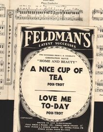 DANCE BAND with Vocals:- (a) A Nice Cup of Tea- Fox-Trot  (b) Love Me To-day- Fox-Trot  -  Both featured in C.B.Cochran's Coronation Revue