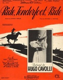 Ride Tenderfoot Ride - Featuring Hugo Cavolli