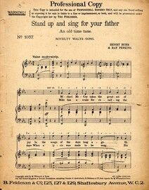 Stand Up and Sing for Your Father - An Old Time Tune - Novelty Waltz Song