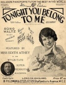 Tonight You Belong To Me - Featuring Miss Edith Athey in the Wylie Tate Super Pierrots, Blackpool