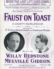 When the last lift goes down  - Sung by Jack Buchanan and Robert Hale - From Messrs George Grossmith and Edward Laurillard Gaiety Theatre Production