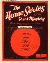 Rubinstein - The Home series of the Great Masters No.10