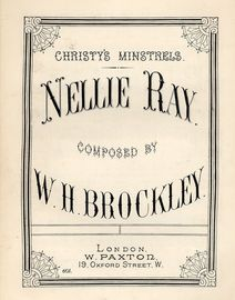 Christy's Minstrels Nellie Ray