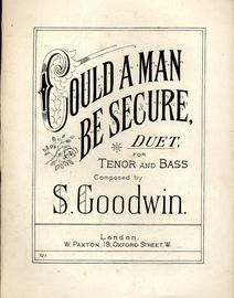 Could a Man be Secure - Duet for Tenor and Bass - Paxton edition No. 721