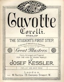 Gavotte - No. 24 of The Students First Step a Series of Melodious Extracts from the Works of Great Masters