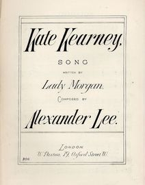 Kate Kearney - Song  - With Pianoforte accompaniment - Paxton edition No. 306