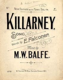 Killarney - In the key of F major for higher voice - Song with Tonic Sol fa