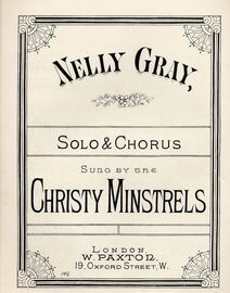 Nelly Gray - Solo & Chorus Sung by the Christy Minstrels
