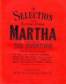 Selection from Flotow's Opera