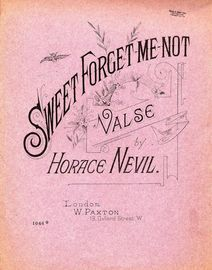 Sweet Forget me Not - Valse - Paxton Edition No. 1066 - For Piano Solo