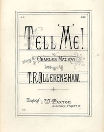 Tell me! - Song in key of A flat - Paxton Edition No. 1122
