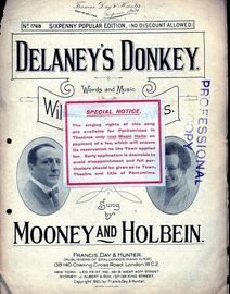 Delaney's Donkey - Sung by Mooney and Holbein