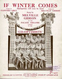 If Winter Comes (Springtime will soon be there) - Song - Sung by Melville Gideon at the Palace Theatre, London in the