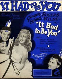 It had to Be You - Featuring Ginger Rogers and Cormel Wilde