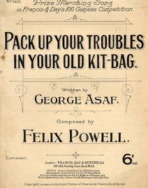 Pack Up Your Troubles in Your Old Kit Bag - Song
