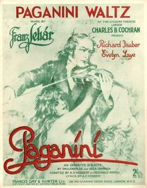 Paganini Waltz - From Paganini an Operette in 3 Acts at the Lyceum Theatre London - For Piano Solo