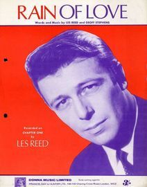 Rain of Love - Recorded on Chapter One by Les Reed - For Piano adn Voice with chord symbols