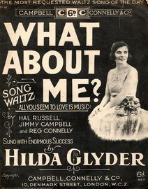What About Me? (All you seem to love is music) - with ukelele accompaniment - featuring Hilda Glyder