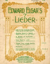 Edward Elgar's 7 Lieder - 7 Songs Edward Elgar - For low Voice