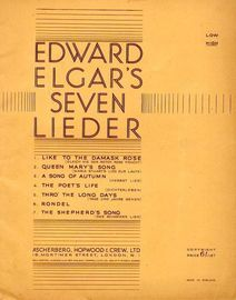 Edward Elgar\'s Seven Lieder - For High voice with English & German words,